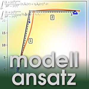 Der Modellansatz: Bézier-Stabwerke. Visualisierung: Arne Rick, Komposition: Sebastian Ritterbusch