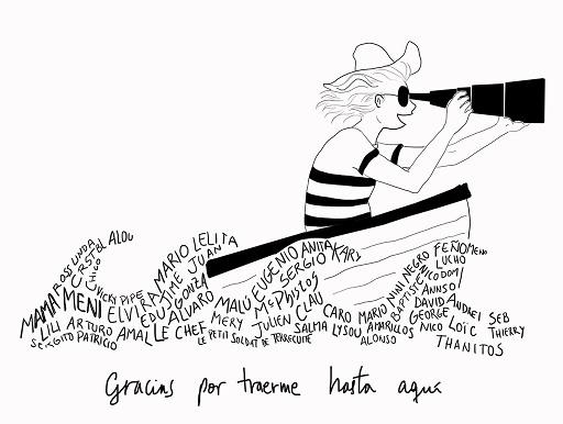 Gracias. Drawing by Constanza Rojas-Molina