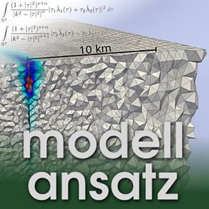 Der Modellansatz: Bruchzonen. Simulation und Visualisierung: Stephanie Wollherr, Komposition: Sebastian Ritterbusch