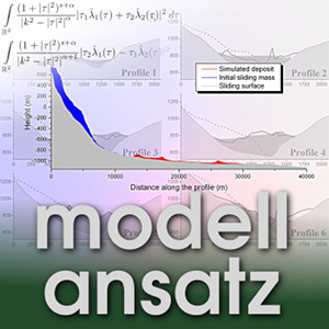 Der Modellansatz: Erdrutsche. Visualisierung: Katharina Elsen, Komposition: Sebastian Ritterbusch
