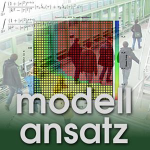 Der Modellansatz: Fußgängergruppen. Simulation und Foto: Matthias Zeleny, Komposition: Sebastian Ritterbusch