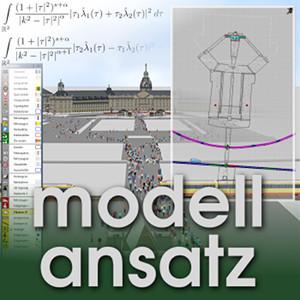 Der Modellansatz: Fußgängermodelle, Bild: T.Kretz, Komposition: S.Ritterbusch