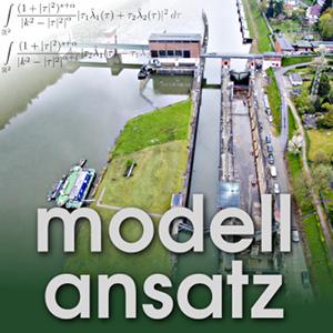 Der Modellansatz: Hybride Strömungsmodelle. Foto: (CC)-BAW - Bundesanstalt für Wasserbau, Komposition: S. Ritterbusch