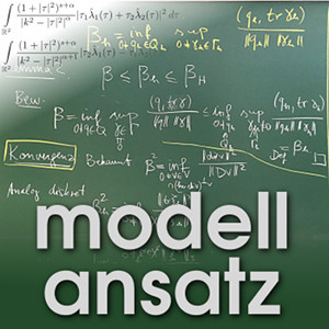 Der Modellansatz: Inf-Sup Bedingung. Tafel: D. Galistl, Foto: G. Thäter, Komposition: S. Ritterbusch