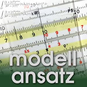 Der Modellansatz: Rechenschieber. Foto & Komposition: S. Ritterbusch