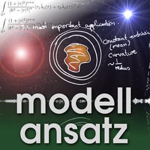 Der Modellansatz: Sternenschwerpunkt. Tafel: C. Cederbaum, Foto: G. Thäter, Komposition: S. Ritterbusch