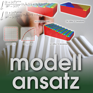 Der Modellansatz: Topologieoptimierung. Simulation und Foto: Magarita An, Komposition: Sebastian Ritterbusch