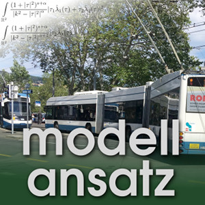Der Modellansatz: Verkehrsflusssimulation, Bild: G. Thäter, Komposition: S. Ritterbusch