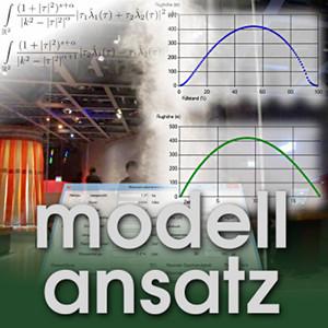 Der Modellansatz: Wasserraketen, Foto: Gudrun Thäter, Simulation: Gabriel Thäter, Komposition: Sebastian Ritterbusch